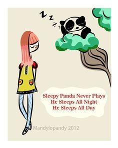 Sleepy Panda. By Mandylopandy #art
