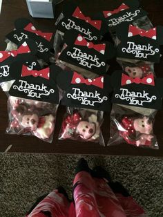 Minnie Mouse chocolate favors