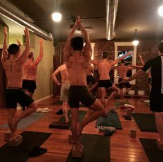 Yogasmith — Last nights men's class. #treehouse (at...