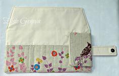 Japanese Echino Bird Crochet Hook Case Organizer with  Sewn In Zipper Pocket. $38.00, via Etsy.