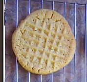 Use your meat tenderizer tool to imprint fast and easy peanut butter cookies.