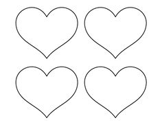 Printable small heart pattern use the pattern for crafts for Small heart template to print