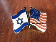 Israel USA Israeli Friendship Flag Lapel Pin Support