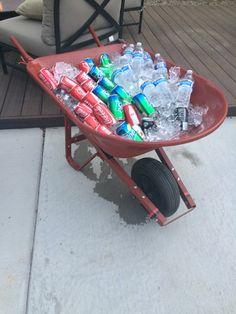 Wheelbarrow drink holder!