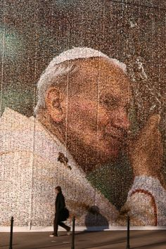 St Pope John Paul II. . . Street art in Krakow, Poland - awesome and we will always miss you. . .