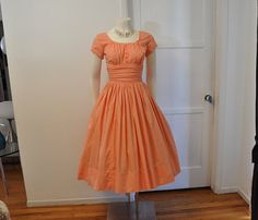 1950s dress / Peachy Keen Vintage 50's by Planetclairevintage