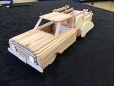 2014's Popsicle stick craft! This one was fun! #summercamp #pickuptruck…