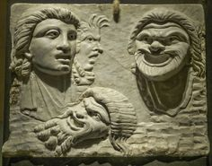 A Pinax, a bas relief of tragic theater masks Roman Pompei…   Flickr - Photo Sharing!