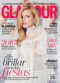 Bella Thorne Pose on Glamour Mexico December 2015 cover Photoshoot