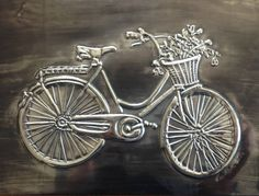 Bicycle done by Lee-Ann at Pewter Me Blue. www.facebook.com/mimmicgalleryandstudio www.mimmic.co.za