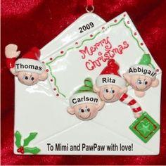 Christmas Mantel 3 Grandkids Love To Grandparents Tabletop Christmas Decoration