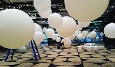 and white balloons - Ivy Ballroom Send Balloons, Balloons Online, Giant Balloons, White Balloons, Balloon Decorations, Wedding Decorations, Christmas Decorations, Balloon Delivery, Balloon Gift