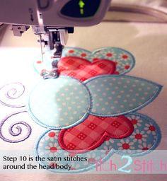 How 2 Stitch a Multiple Fabric Applique Design