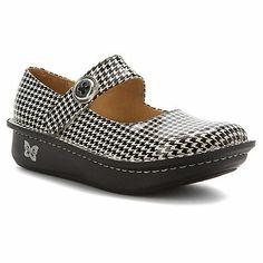 ALEGRIA Womens Paloma Mary Jane Shoes Houndstooth Leather PAL-505