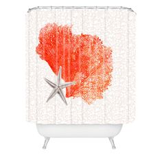 Hadley Hutton Coral Sea Collection 4 Shower Curtain | DENY Designs Home Accessories