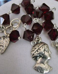 Sterling Silver Lady Milagro Crystal Charm by janislogsdongems, $35.00