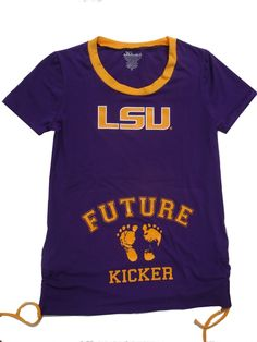 968eeec1c350 Klutch LSU Tigers Womens Purple Future Kicker Maternity Top