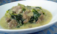 Arni Frikase or lamb fricassee is a very traditional Greek dish of stewed lamb with greens in egg lemon (avgolemono) sauce. Cookbook Recipes, Lunch Recipes, Meat Recipes, Baby Food Recipes, Food Network Recipes, Cooking Recipes, The Kitchen Food Network, Mumbai Street Food, Dairy Free Diet