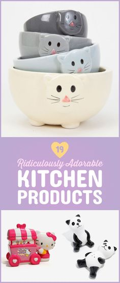 Just because you can't cook doesn't mean you can't treat yourself to some cute-ass kitchen knickknacks!