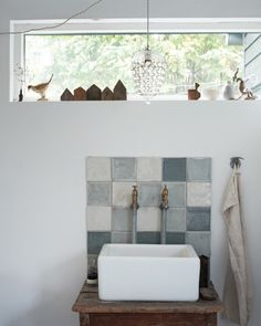 Love those tiles like they've been watercolored Inspired Home Ditte Isager…