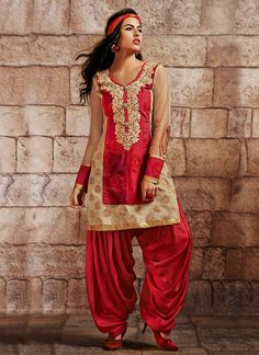 Stylish Borcade #Patiala Suit