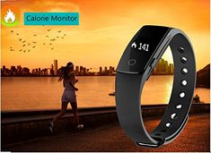 Fitness Tracker with Heart Rate Monitor,Pashion Bluetooth Smart Bracelet Smart Band Touch Screen Healthy Smart Watch Wristband for Android iOS Smartphone   Feature: keep connected with smartphone through Bluetooth Touch key and press key operated, Gesture control, turn the wrist lit screen. H