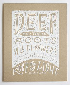 Illustrated Theodore Roethke Quote 8x10 by satchelandsage on Etsy