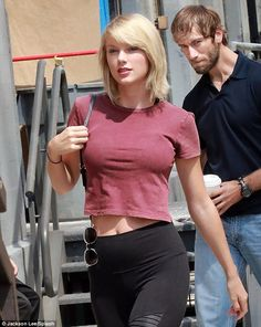 Fuller figure: Taylor Swiftwas seen looking rather busty while out and about in New York City on Wednesday