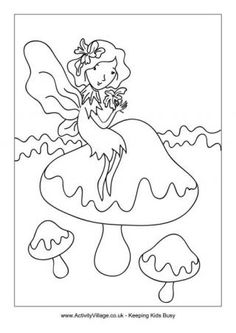 Tooth Fairy colouring in printable