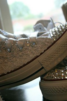 pinner: I designed my own wedding converses <3