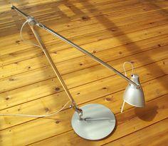 Rare Vintage Nemo Leo Large Desk Lamp with Base, Near Mint