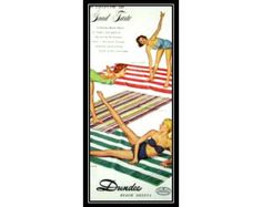 Dundee Beach Sheets 1950s Vintage Advertising Beach Cottage Wall Art Decor