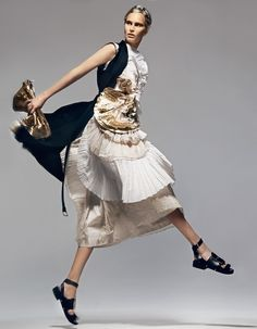 How To Spend It: Pleats and plissé fashion [Summer 2014] (2)  Whether sharp as a knife or softly concertinaed, pleats and plissé finishes are giving summer looks a new edge.