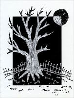 Art Projects for Kids: Positive / Negative Scratch Tree