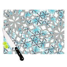"Miranda Mol ""Chilly"" Cutting Board | KESS InHouse #christmas #gift #home #decor #modern #abstract #mirandamol #kessinhouse #kess #kessmas #holidays"