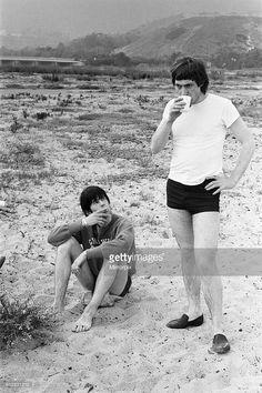 News Photo : Keith Richards and Charlie Watts seen here posing...