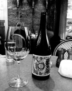Unique astrology-inspired horizontally-placed VML black-and-white label which tells a whimsical story of the woman winemaker as sorceress: http://inyourhead.com/blog/wine-sorceress    © 2012 In Your Head, LLC. All rights reserved.