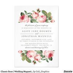 Wedding Invitation Size, Botanical Wedding Invitations, Classic Wedding Invitations, Watercolor Rose, Watercolor Wedding, Zazzle Invitations, Party Invitations, Wedding Postcard, Sage Wedding