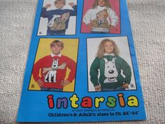 Unusual 'Herge Tintin' knitting pattern booklet in used condition | eBay