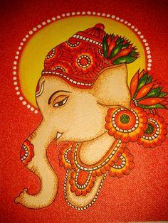 Simlle kerala mural style ganesha