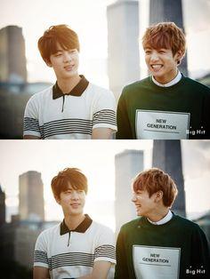 BTS Jin and Jungkook