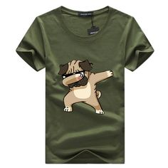 SWENEARO Men's T-shirts Fashion Animal Dog Print Hipster Funny t shirt Men Summer Casual street Hip-hop Tee shirt Male Tops Male T Shirt, Mens Tee Shirts, Dog Shirt, Clipart Black And White, Hipster Fashion, Mens Fashion, Branded T Shirts, Types Of Sleeves, Funny Tshirts