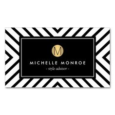Retro Mod Black and White Pattern Gold Monogram Double-Sided Standard Business Cards (Pack Of 100). This great business card design is available for customization. All text style, colors, sizes can be modified to fit your needs. Just click the image to learn more!
