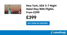 New York, USA 3-7 Night Hotel Stay With Flights From £399 at Go Groopie