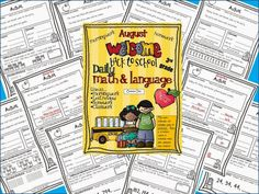 """A month's worth of morning work or homework, all with a """"back to school"""" theme. A perfect start for a perfect new school year! Daily Math and Language:  August $"""