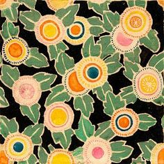 Art Deco fabric - love these colors