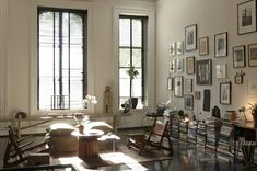 love big windows and interesting collections of art....