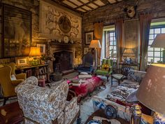 Chillingham Castle Sitting Room, Northumberland