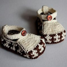 Knitting Pattern PDF file Baby Shoes Ornament by loasidellamaglia, $3.99
