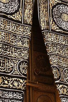 The door of the Kaaba in Makkah.